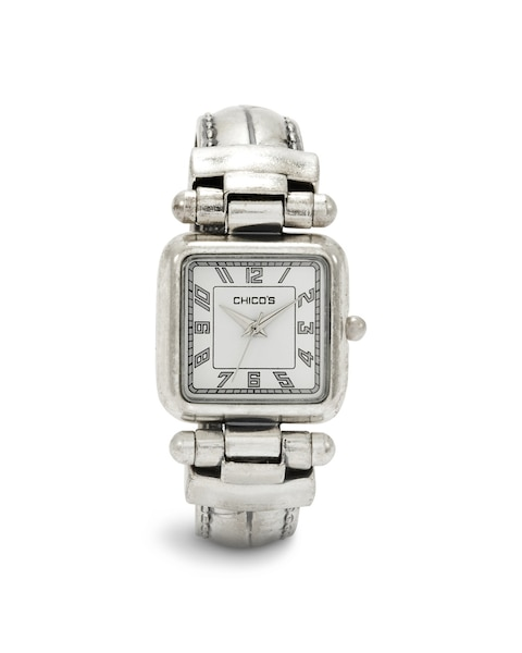 Silver Ox Cuff Watch