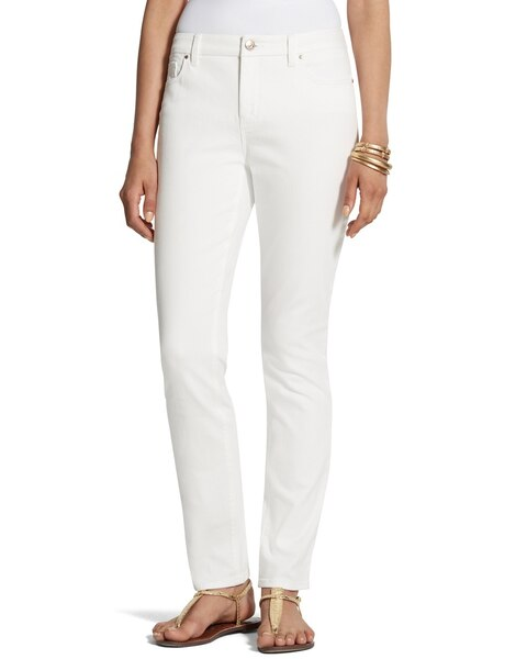 Girlfriend Ankle Jeans in Alabaster - Chicos