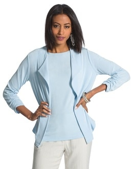 Travelers Classic Ruched-Sleeve Jacket