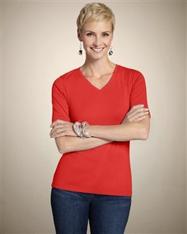 Rhumba Orange Cotton Rib Gianna Tee