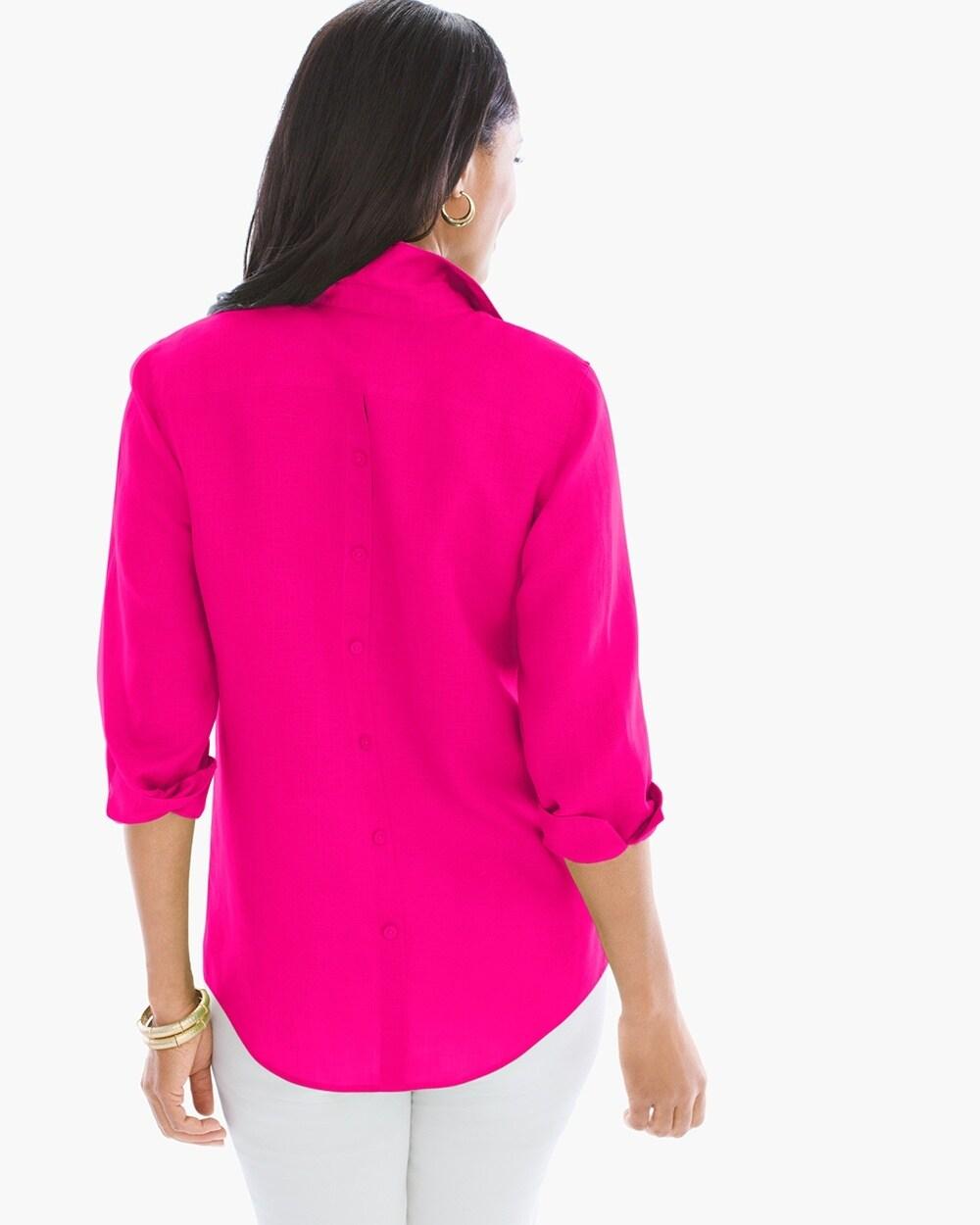 Linen Button Back Shirt Chicos