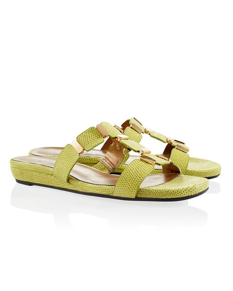 Bell Lime Green Sandals