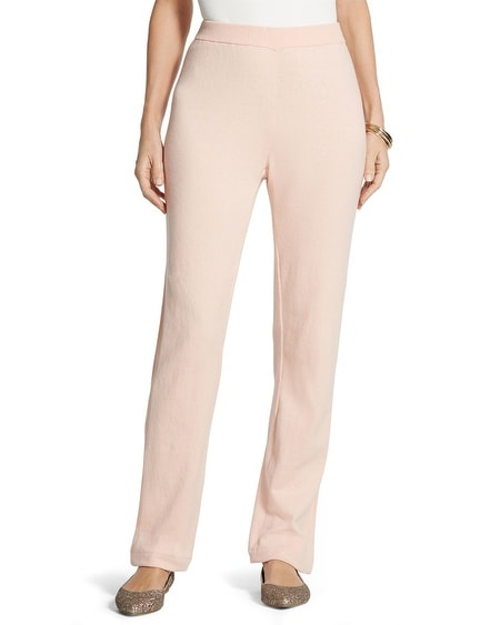 Zenergy Cotton  Cashmere Rib Stripe Pants in Pixie Pink