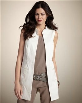 Cotton Sateen Selena Vest