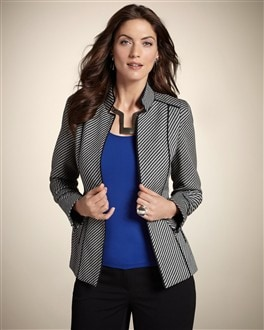 Diagonal Jacquard Jacket