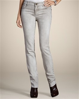 Platinum Denim Emblem Slim Leg Jean