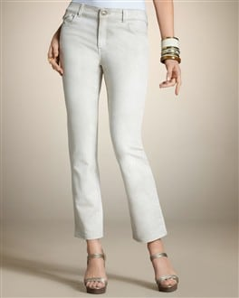 Platinum Denim Pickstitch Ankle Jean