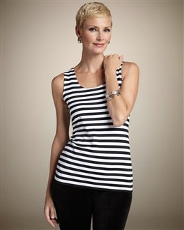 Microfiber Stripe Contemporary Tank
