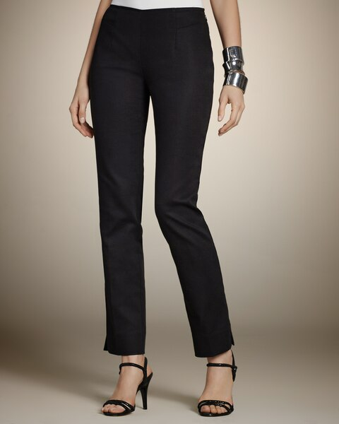 Smooth Stretch Side Zip-Ankle Pants