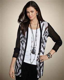 Travelers Collection Woven Front Francesca Jacket