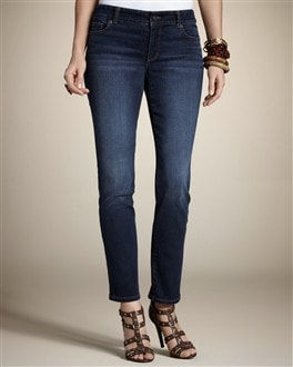 So Slimming By Chico's 5-Pocket Deep Topaz Ankle Jean