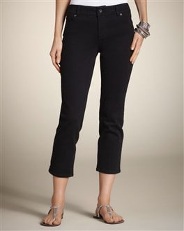 So Slimming By Chico's 5-Pocket Black Crop