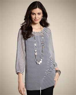Crinkle Stripe Chandra Top
