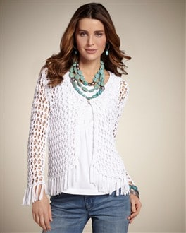Majesty Fringe Cardigan