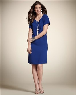 Solid V-Neck Veronica Dress