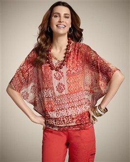 Patchwork Sunrise Jayna Top