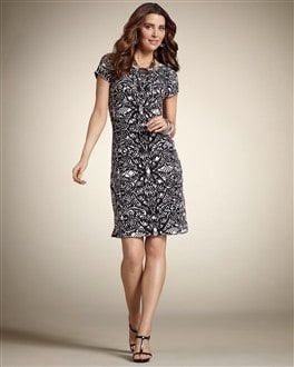 Laser Flutter Sleeve Dress