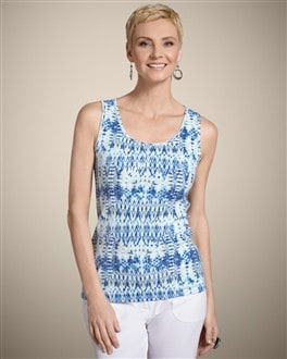 Zenergy India Ikat Sequin Tank