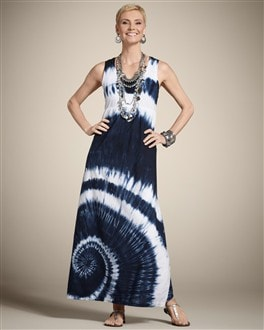 Zenergy Woven Collection Tie-Dye Maxi Dress