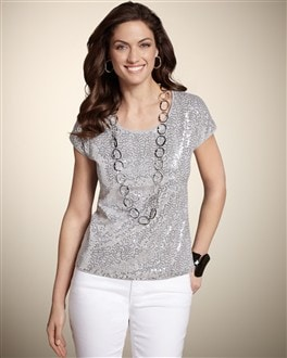Heather Sequin Tee