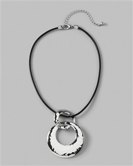 Elcida Leather Pendant Necklace