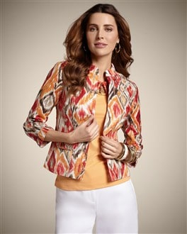 Blurred Ikat Alegra Jacket