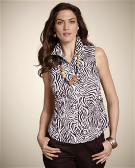 Effortless Zebra Helaina Tank