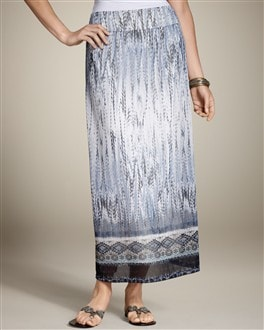 Feathered Tribal Melissa Maxi Skirt