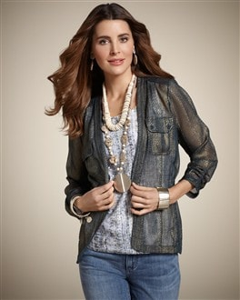 Embossed Eleesia Shine Jacket