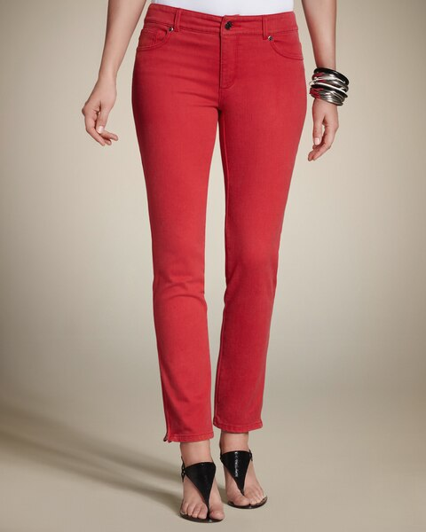 Zipper Ankle Jeans