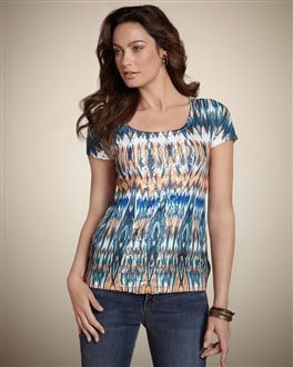 Batik Interest Ruby Ruffle Top