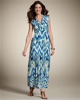 Flamestitch Mara Maxi Dress