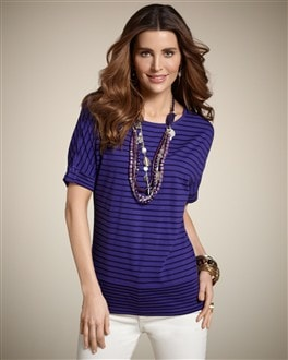 Illusion Stripe Ainsley Tee