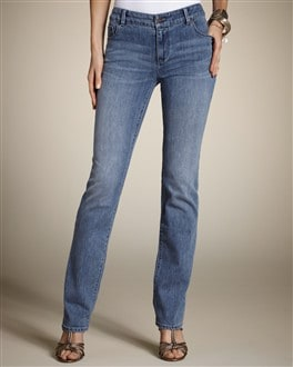Platinum Denim Winged Pocket Slim-Leg Jean