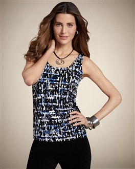 Travelers Classic Abstract Maze Contemporary Tank