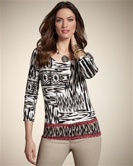 Timeless Border Wedge Pattern Top