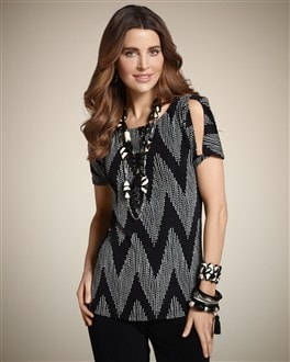 Travelers Classic Chevron Carrie Top