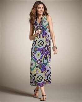 Crinkle Chiffon Maxi Dress