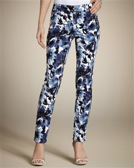 Platinum Denim Floral-Printed Ankle Jean
