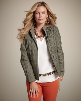 Rachel II Textured Panel Jacket
