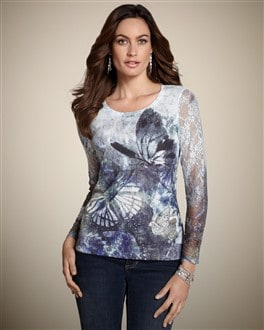 Free Spirit Lace Sleeve Top