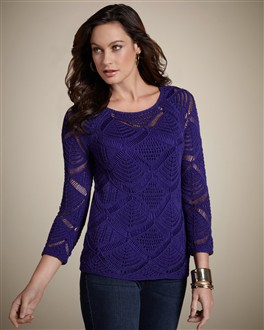 Open Pointelle Temptation Pullover