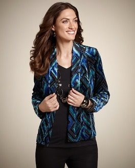 Earlene Velvet Burnout Jacket
