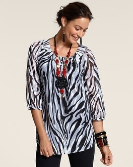 Zebra Burnout Kennedy Top