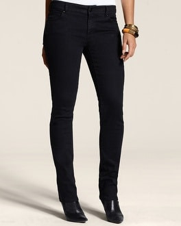 Platinum Denim Sequin Slim-Leg Jean