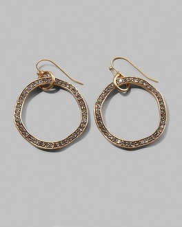 Ava Drop Hoop Earring