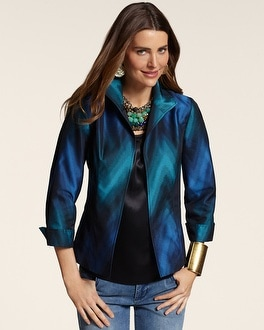 Blurred Chevron Zelma Jacket