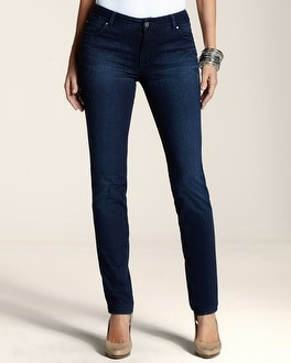 Platinum Knit Denim Waverly Wash Slim-Leg Jean