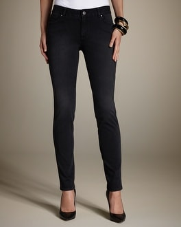 Platinum Knit Denim Washed Black Jean