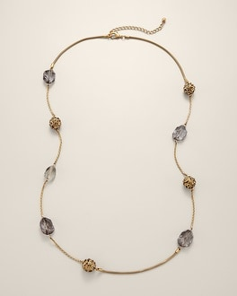 Roselle Long Necklace
